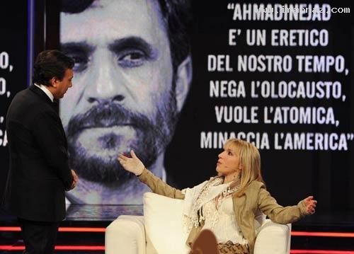 عشق یک دختر جوان ایتالیایی به ازدواج با احمدی نژاد ، www.irannaz.com