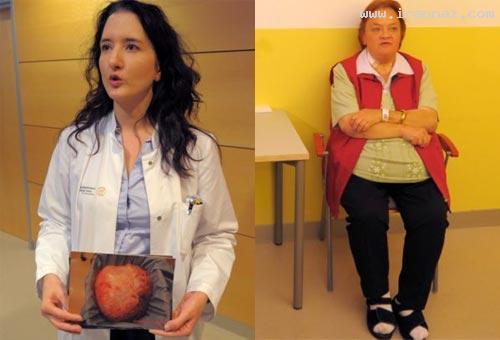 خارج شدن توموری 28 کیلویی از بدن یک زن 60 ساله!
