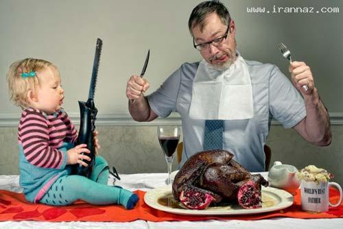 عکس هایی خنده دار و دیدنی از بهترین پدرهای دنیا!