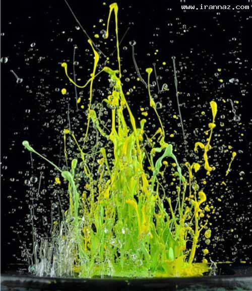عکس های خارق العاده و زیبا از رقص رنگ ها با آهنگ!