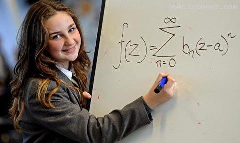 این دختر 12ساله اینشتین را هم جا گذاشت (+عکس)