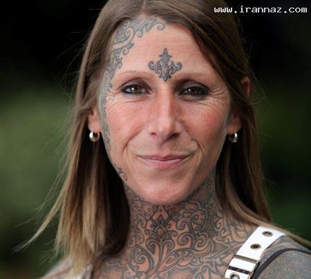 خالکوبی 85٪ از بدن این خانم پس از طلاق! (+تصاویر)