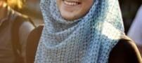 حجاب گرفتن دختر آمریکایی برای حمایت از مسلمانان!