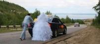 بدشانس ترین عروس و داماد در جهان! (تصویر جالب)
