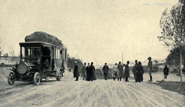 عکسی دیدنی از اولین اتوبوسی که به ایران وارد شده