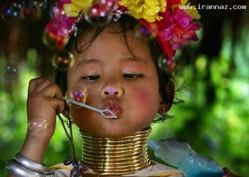 عکس های زنان و دخترانی با عجیب ترین گردنهای دنیا