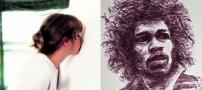 عکس های دیدنی از هنر نمایی یک دختر با لب هایش