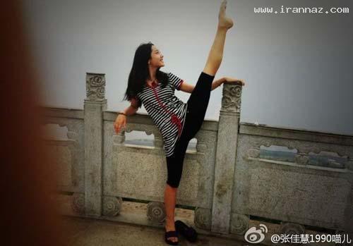 انعطاف پذیری باورنکردنی بدن دختران چینی (+تصاویر)