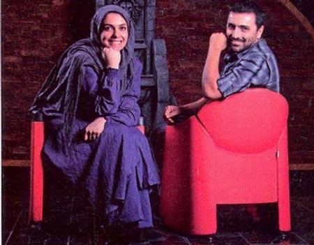 مصاحبه و عکس مشترک از امین زندگانی و همسرش