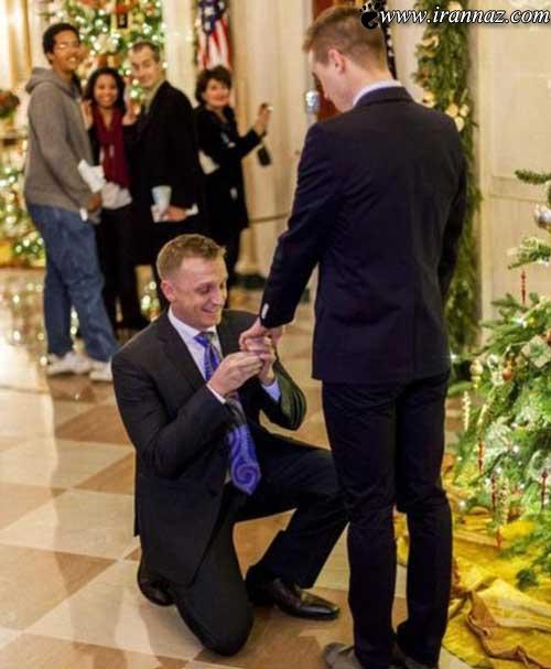 مراسم ازدواج همجنس گرایان در کاخ سفید!! (عکس)
