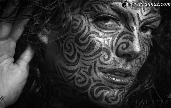 نقاشی شگفت انگیز این زن روی بدن انسان! (عکس)
