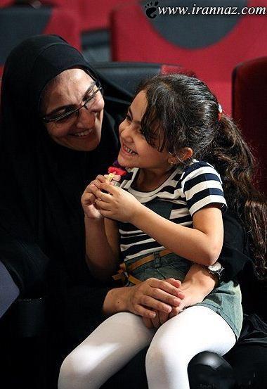 محبوب ترین دختر ایران به همراه مادرش (تصویری)