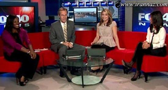 سوتی خانم مجری در یک برنامه زنده تلویزیون! (عکس)