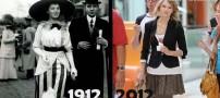 مقایسه زمان حال با یک قرن پیش! (عکسهای جالب)