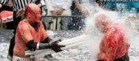 جنگیدن ترسناک و عجیب با لامپ مهتابی در ژاپن (18+)