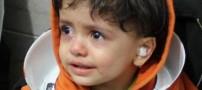 گیر کردن بسیار عجیب دختر 1 ساله در کتری! (عکس)