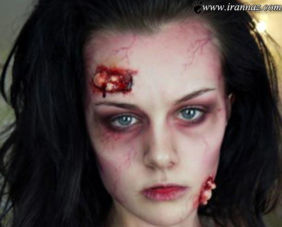 عکس هایی از مهارت یک دختر جوان در گریم سینمایی