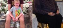 کاهش وزن 114 کیلویی این فرد به عشق فرزند (عکس)