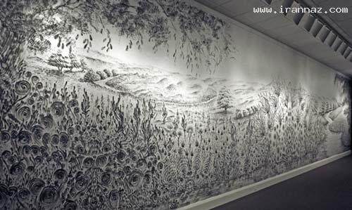 هنرنمایی زیبا و باورنکردنی این خانم با زغال!! (عکس)