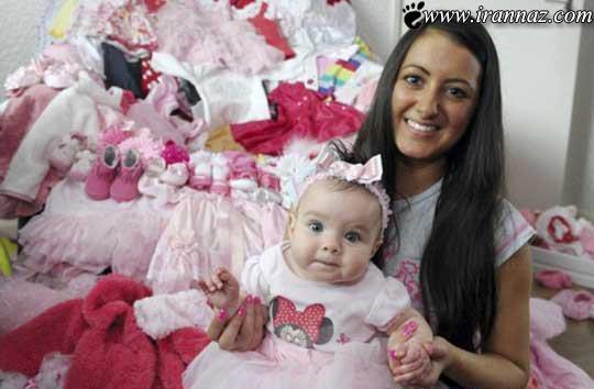 کوچکترین دختر که ستاره جهانی رسانه ها شد(عکس)