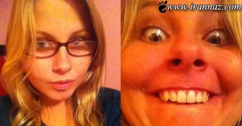 عکس های خنده دار از مسابقه شکلک در آوردن خانمها