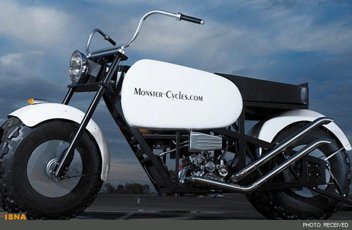 بلندترین موتورسیكلت جهان با ارتفاع 3.42 متر