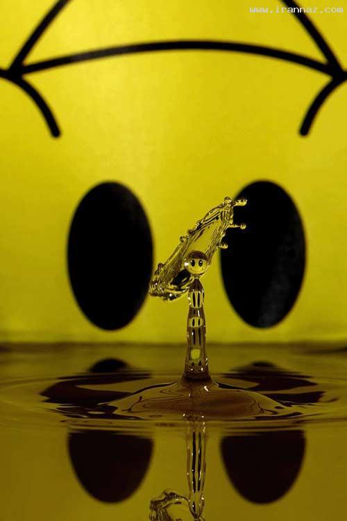 عکس هایی از شیرین کاری جالب با قطرات آب