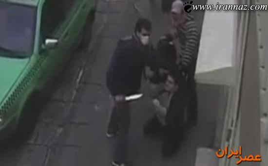 زورگیری چهار نفر با قمه در روز روشن در تهران (عکس)