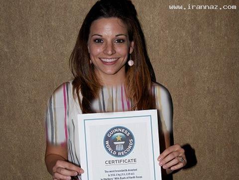 رکورد اهدای شیر به کودکان توسط این خانم 28 ساله!