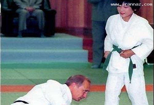 این دختر خانم یک رئیس جمهور را به زمین زده (عکس)