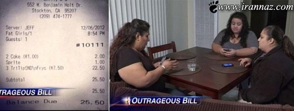 آخر و عاقبت توهین کردن به خانم های چاق! (عکس)