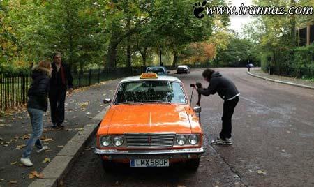 یک تاکسی پیکان نارنجی در شهر لندن! (تصویری)