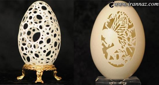 عکس هایی از هنرنمایی بسیار زیبا روی پوسته تخم مرغ