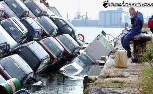 عکس صوانح حوادث تصاویر جالب افراد بد شانس اتفاقات بد