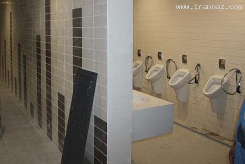 جنجال بر سر توالت ایستاده در سیتی سنتر اصفهان