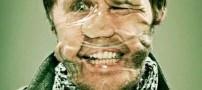 عکس های عجیب از چهره های طبیعی با چسب نواری