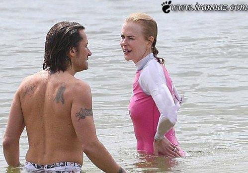 شنای بازیگر زن معروف در سواحل استرالیا (عکس)