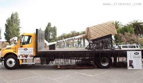 این خانم سازنده بزرگترین آب نبات چوبی جهان است!