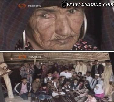 زنی با 108 سال سن  و تعداد 108 نوه و نتیجه (عکس)
