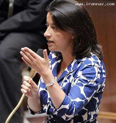 دردسر برای خانم وزیر با پوشیدن پیراهن گلدار