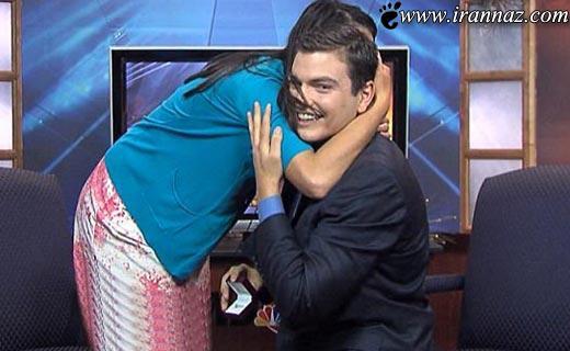 خواستگاری رمانتیک آقای مجری حین اجرای زنده اخبار