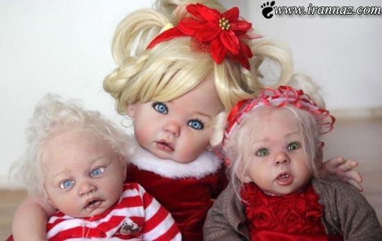عکسهای هنر نمایی یک زن در ساخت عروسک ترسناک