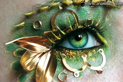 عکس های هنرمندی یک خانم در آرایش دور چشم ها