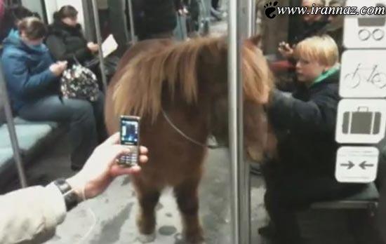 حرکت بسیار عجیب یک دختر 20 ساله در مترو (عکس)