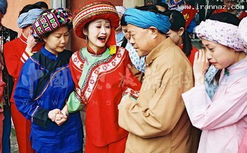 مراسم عجیب عروس های چینی برای شب عروسی!