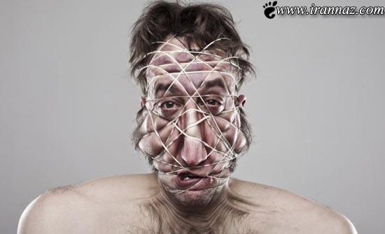 عکسهای بسیار عجیب و خنده دار از چهره مردی جوان
