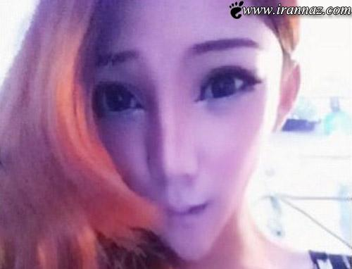 عکس هایی از دختری که عجیب ترین چهره جهان را دارد