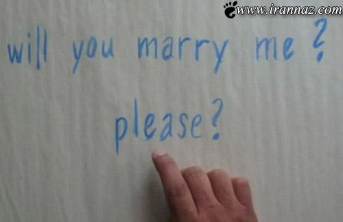 خواستگاری انیمیشنی مرد عاشق از یک دختر(عکس)