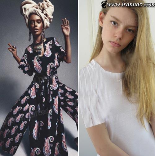 استفاده عجیب از مدل 16 ساله در مجله مد (عکس)
