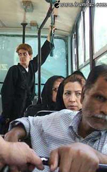 کشف حجاب یک زن بی بند و بار در تهران!! (تصاویر)